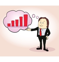 Businessman character Think positive design vector image