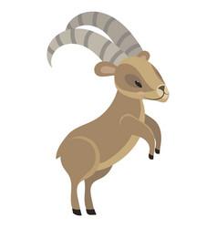 Cartoon nubian mountain goat vector
