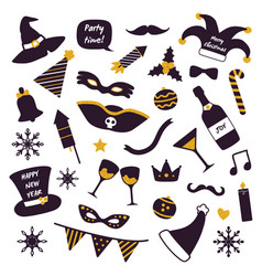 christmas party decorations vector image