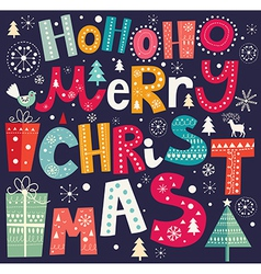 christmas with merry text vector image