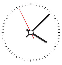 clock icon office clock on white background vector image