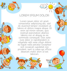 colorful template brochure in baby style vector image