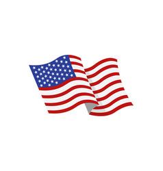 Coloured usa flag vector