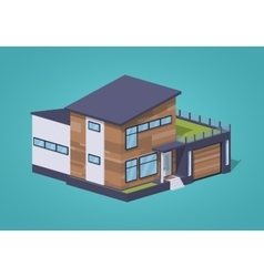 Contemporary american house vector