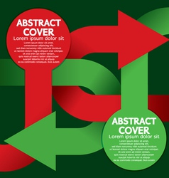 Cover or Flyer Design vector image