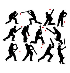 cricket players vector image