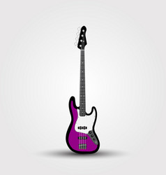 electric bass guitar isolated vector image