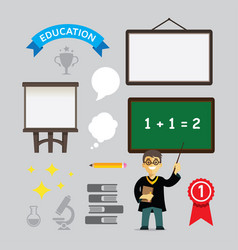 element of educational design vector image