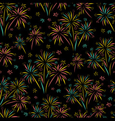 firework seamless pattern isolated vector image