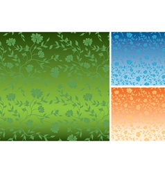 floral colorful textures for background vector image