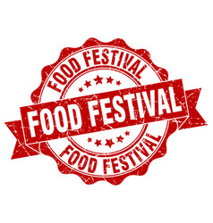 Food festival stamp sign seal vector
