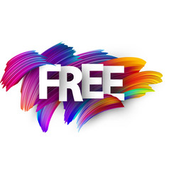 Free paper poster with colorful brush strokes vector