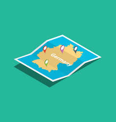 germany explore maps with isometric style and pin vector image
