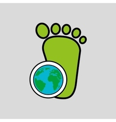 Global world footprint ecology icon design vector