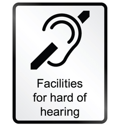Hard of hearing Information Sign vector