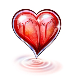 Heart of glass vector image