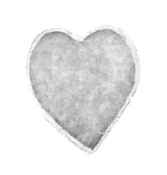 heart shape drawn with gray vector image