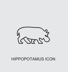 Hippopotamus icon vector
