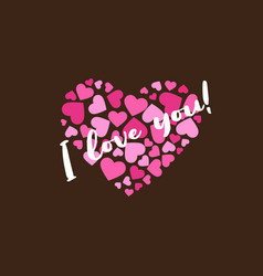I love you heart logo for february and st vector