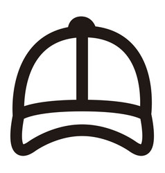 isolated beach hat outline vector image