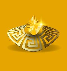 Jewelry 3d jewellery greek background gold 3d vector