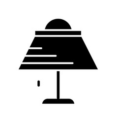 lamp desk icon black sign on vector image