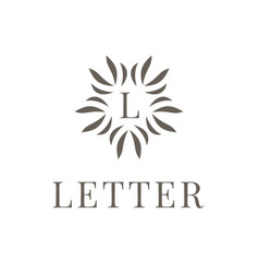 letter l logo icon design template element on vector image