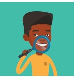 Man brushing his teeth vector