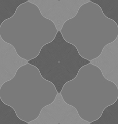 Monochrome pattern with gray wavy guilloche vector