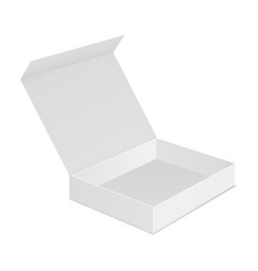 Open box with lid isolated vector