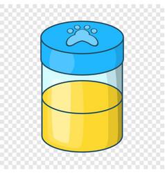 Pets urine sample icon cartoon style vector
