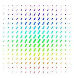pill shape halftone spectrum effect vector image