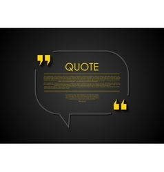Quote speech bubble abstract design vector