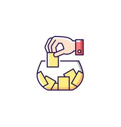 Raffle rgb color icon vector