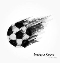 realistic watercolor painting of football vector image