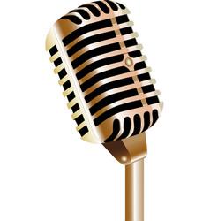 Retro vintage 1940s style microphone vector
