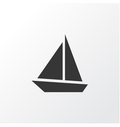 Sail boat icon symbol premium quality isolated vector