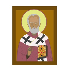 Saint Nicholas vector image
