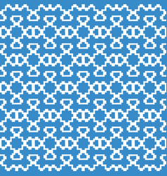 seamless symmetrical pattern made up of white vector image