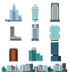 Skyscraper Offices Set vector