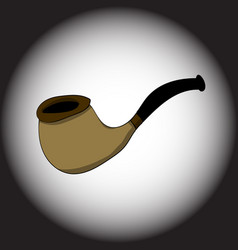 smoking tube on a black gradient background vector image