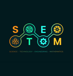 stem - education banner background vector image