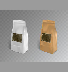 tea packaging containers realistic mockup vector image