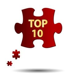 Top ten symbol vector