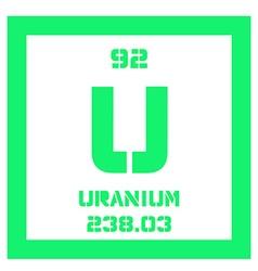 Uranium chemical element vector