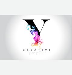 Y vibrant creative leter logo design vector