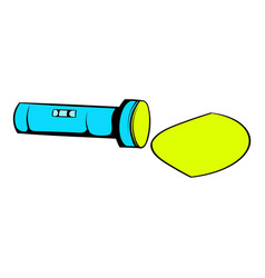 flashlight icon cartoon vector image vector image