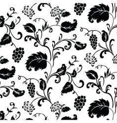 Grape vine pattern vector