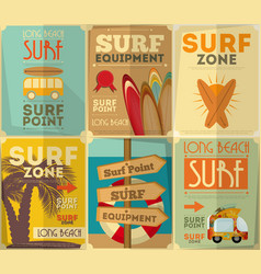 Surf posters vector