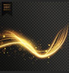 transparent golden light effect vector image vector image